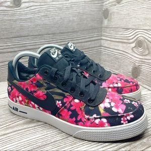 Nike Air Force 1 floral pink low top sneakers